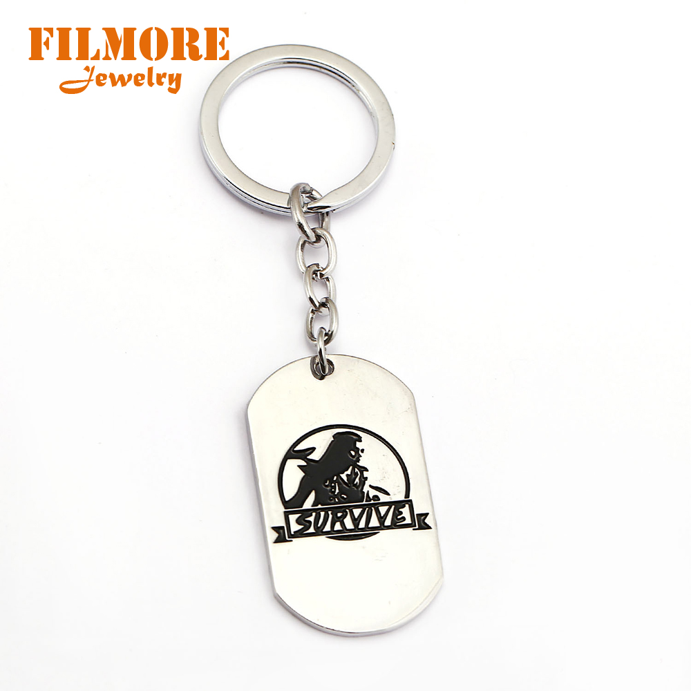 Filmore Online Game Jewelry Horizon Zero Dawn Survive Keychain Key Ring Chaveiro Dog Tag Key Chain llaveros Trinket Men Boy Gift