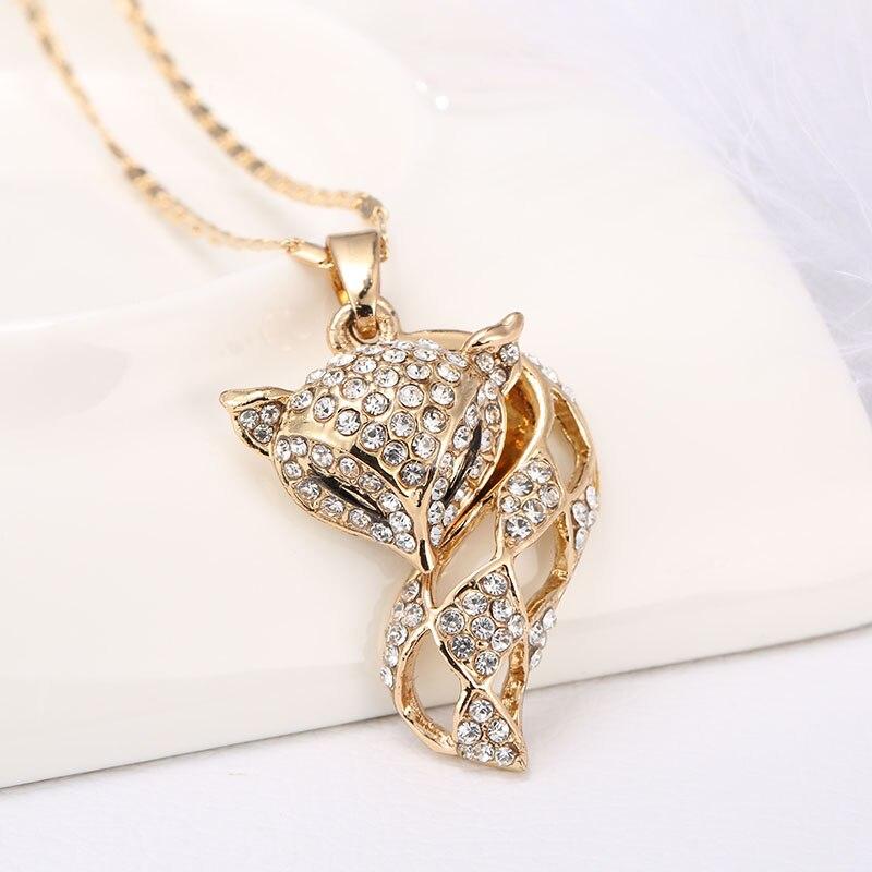 db2b40de67ac Moda joyería animal Colgantes Collares encanto elegante belleza diseño Fox Collar  para las mujeres