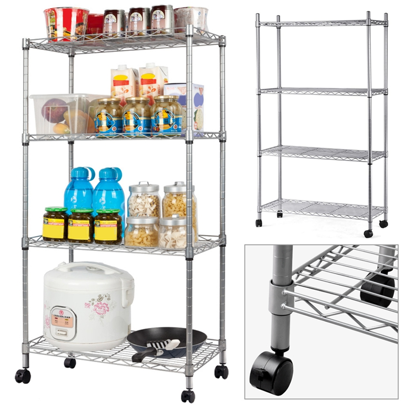 4 layers Chrome Wire Shelving Display Shelves / Rack / Garage / display4 layers Chrome Wire Shelving Display Shelves / Rack / Garage / display