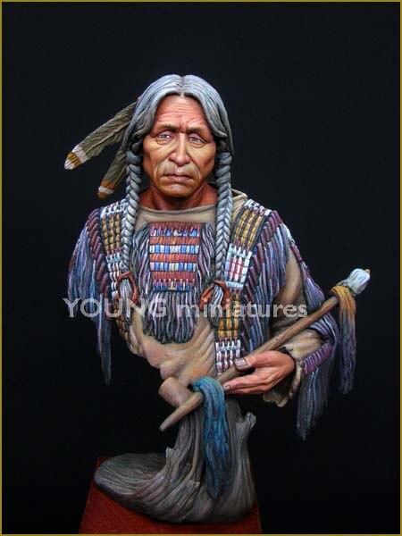 DIY 1/10 BUST Resin Figure Model Kit Historical Film Figure Indian Model