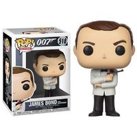 Funko pop Official Movies: James Bond Sean Connery with White Tux Vinyl Action Figure Collectible Model Toy with Original Box