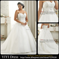 Wholesale 2016 Beaded Top A Line Court Train Cheap Wedding Dresses Plus Size Custom Made Formal Oversize Wedding Bridal Gowns
