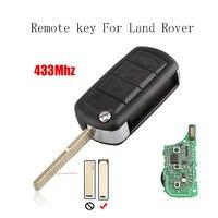 Nowy Wymiana Obrócić Kluczyk Fob Samochodów Cienki Blade dla Land Rover Range Rover z chipem 433 mhz