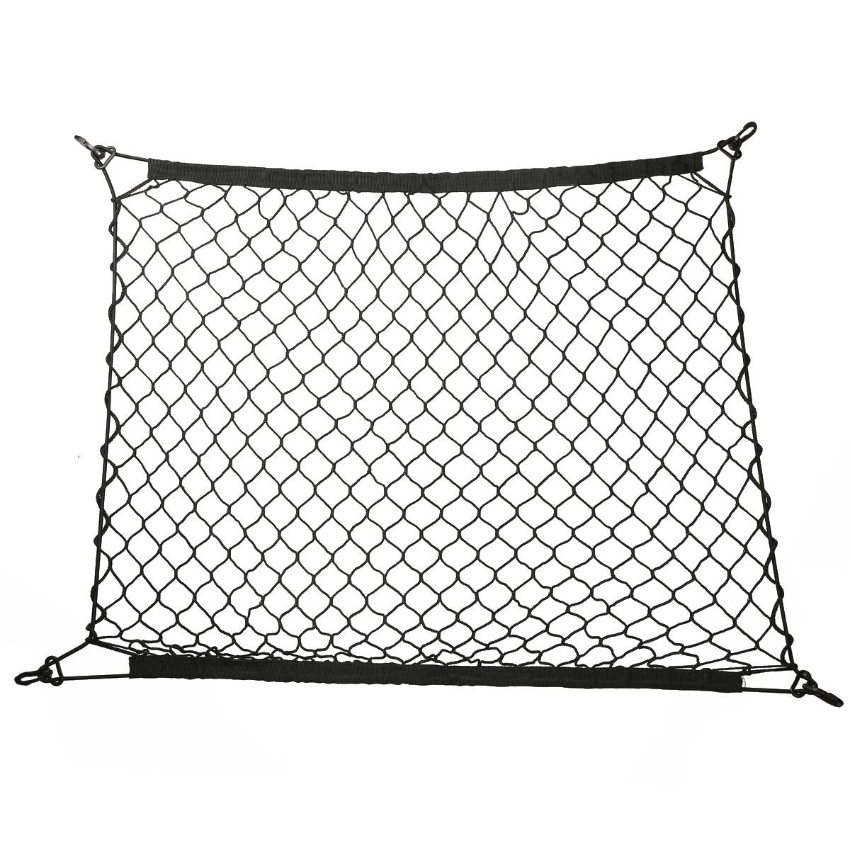 Auto Care 70 x 70cm Universal Car Trunk Luggage Storage Cargo Organizer Nylon Elastic Mesh Net With 4 Plastic Hooks