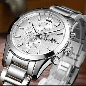 Carnival Automatic Mechanical Watches Mens 100M Waterproof Sapphire Crystal Wristwatches Full Steel Watch Men Clock reloj hombre