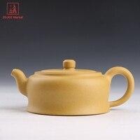 Authentic Purple Clay Teapot Handmade Kung Fu Tea Pot Brewing Tea Yixing Pot Craft Artist Works