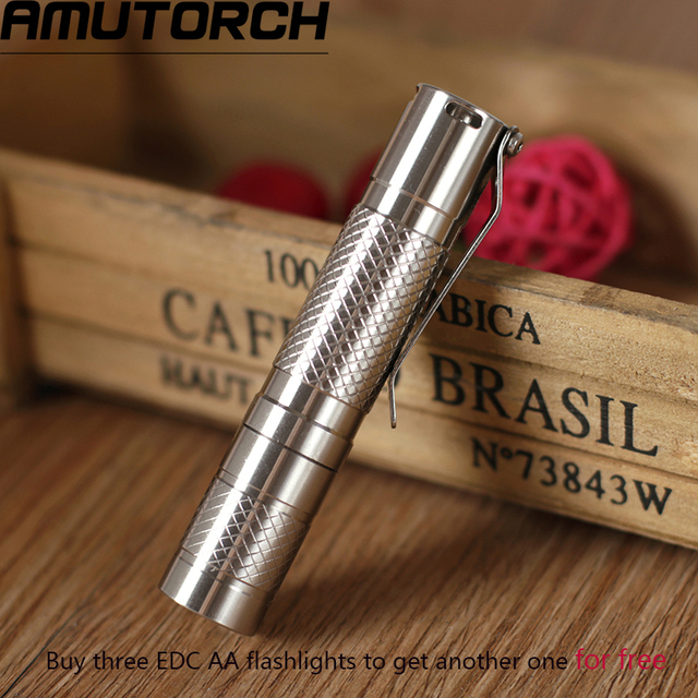 Amutorch Newest Cree XPG3 S3 LED flashlight,Small stainless steel EDC AA flashlight torch