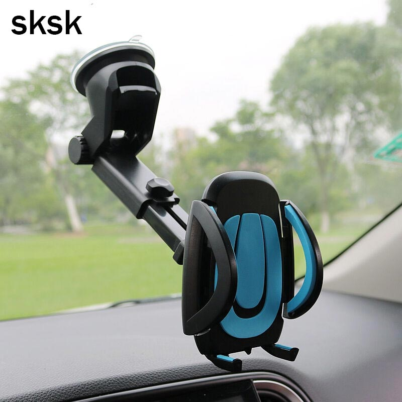 SKSK Car Phone Holder Gps Accessories Suction Cup Auto Dashboard Windshield Mobile Cell  ...