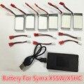 Сыма x5hw x5hw Аккумулятор Запчасти lipo Bateria 3.7 В 850 мАч Оригинальный литий-Батарея с 6in1 Кабель Баланс зарядное устройство