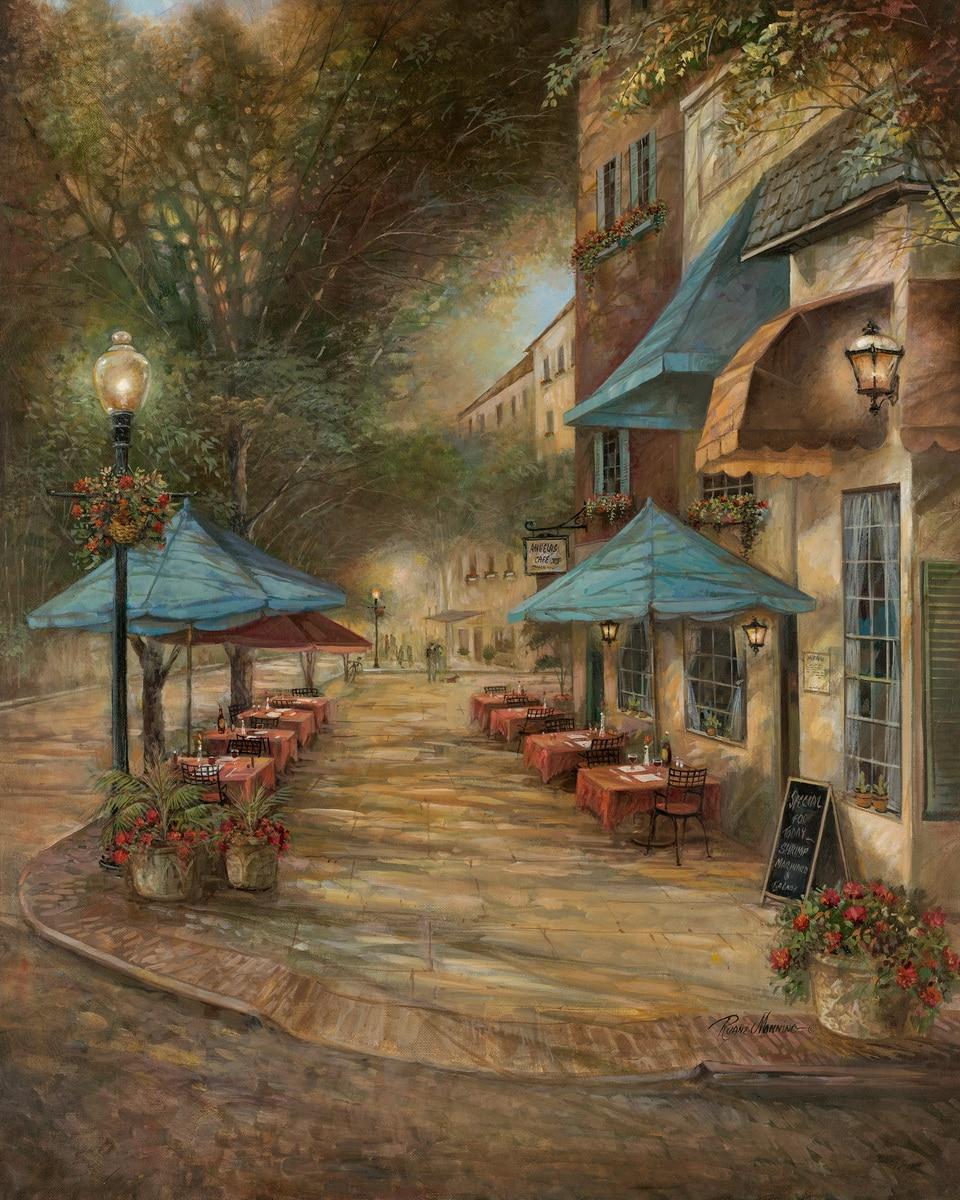 5x7ft Snow White Princess Paris Street Cafe Coffee Shop