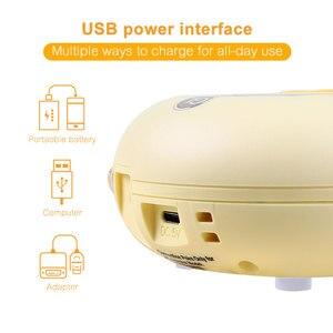 Image 5 - USB טעינה כפול משאבת שד חשמלי חולץ שד חלב משאבות עם עיסוי מצב BPA משלוח LCD תצוגת הנקה משאבת