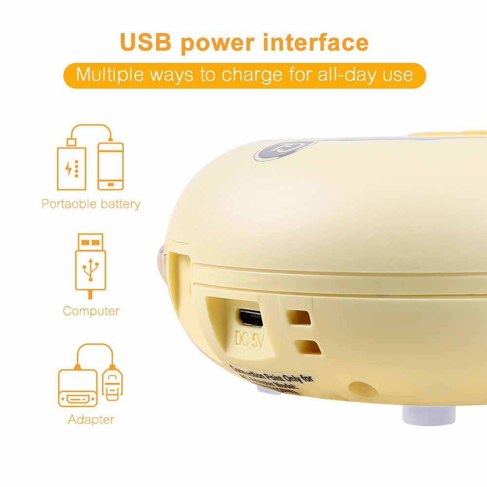 Зарядка через usb двойной насос груди Электрический извлекатель молокоотсосы с массажным режимом BPA Бесплатный ЖК-дисплей молокоотсос