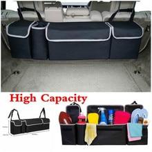 Car Organizer Trunk Backseat Adjustable Storage Bag Net High Capacity Multi-use