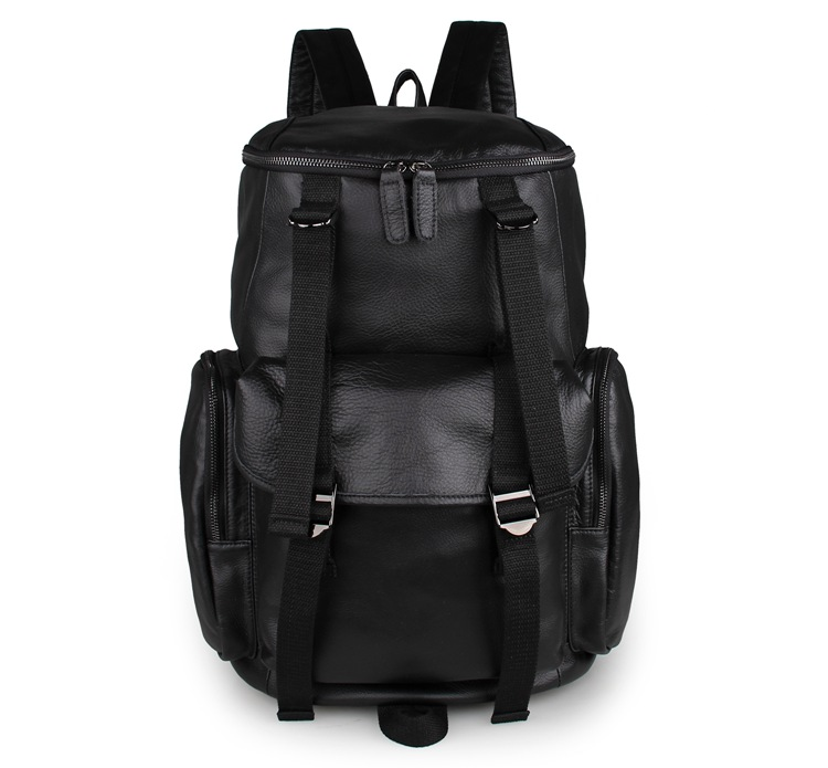 Online Buy Wholesale large black leather backpack from China large ...
