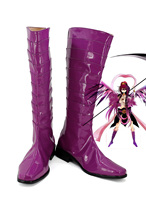 The Labyrinth of Magic Ren Kouha Cosplay Boots Purple Shoes Custom Made