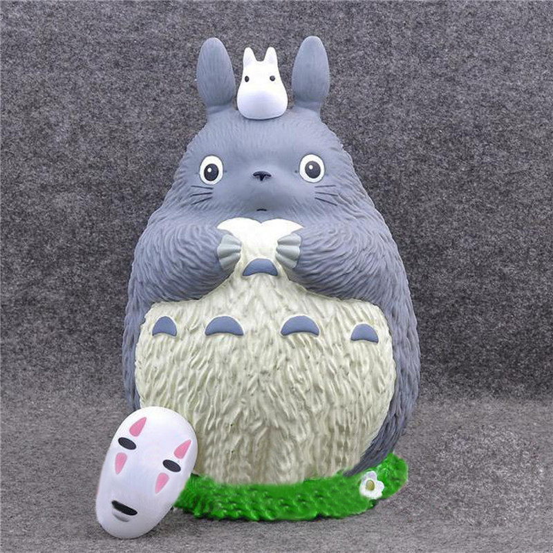 17pcs/Set Totoro Figures Toy And No Face Money Box Action Figure Best Gifts Toys For Kids Retail Box 21cm 8pcs set the octonauts cartoon action figures kids toys captain barnacles medic peso model children birthday gifts with box