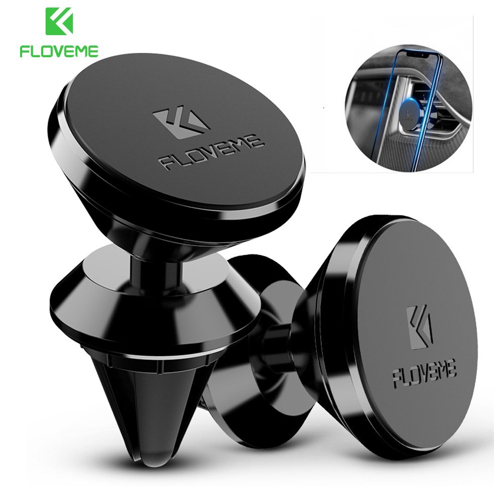 FLOVEME Magnetic Car Phone Holder For IPhone Magnet Phone Holder Air Vent Mount Car Phone Auto Holder Stand GPS Bracket Support
