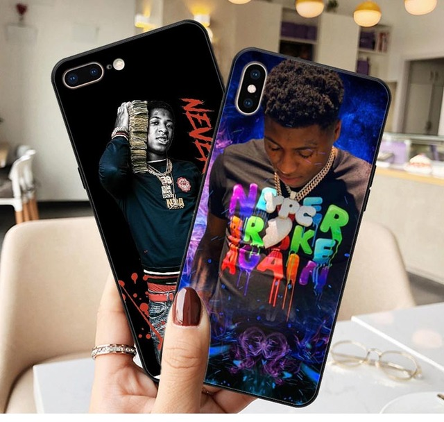 sale retailer 8adaf c2c01 US $1.0 8% OFF|Broke Again Nba Youngboy 38 Baby Rap Hip Hop Music Print  Soft silicone Phone Case For iphone XS Max XR X 5 5s SE 6 6s 7 8 plus-in ...
