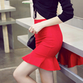 Spring and summer super elastic nylon cotton bag hip skirt thin A word step skirt fishtail skirt ladies stretch wholesale