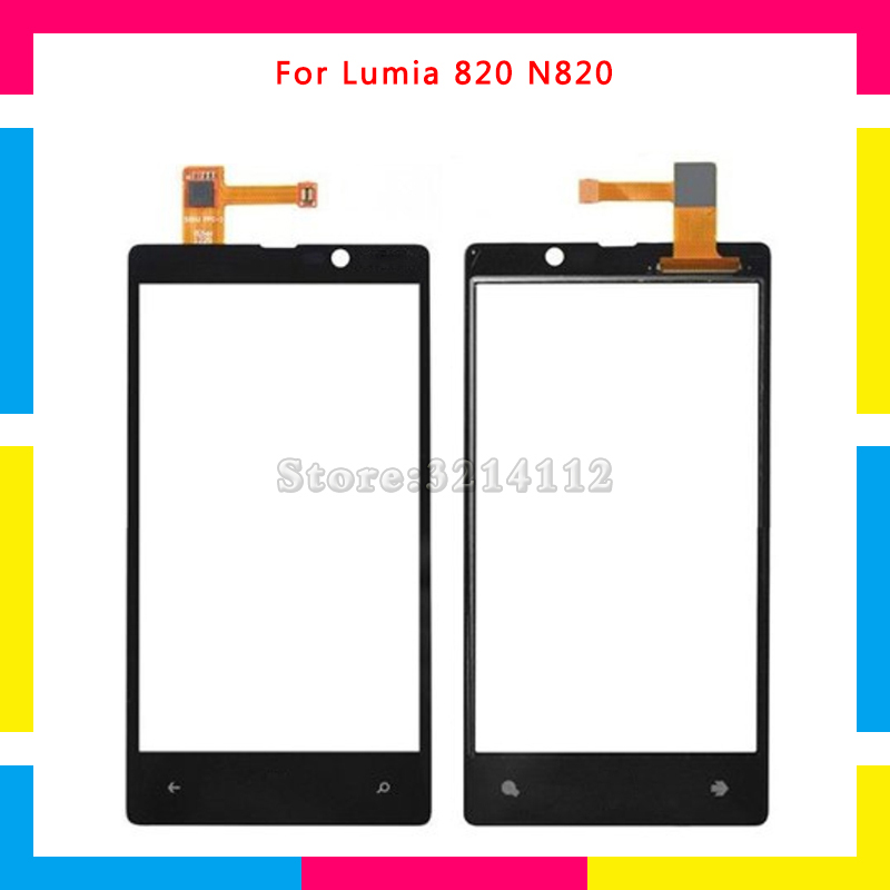 Replacement Touch Screen Digitizer Sensor Outer Glass Lens Panel For Nokia Lumia 820 N820 No Frame or With Frame Free shipping