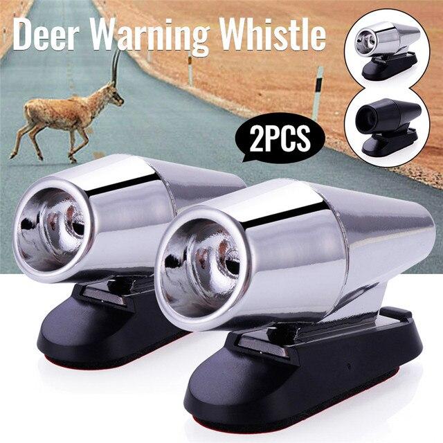 2 pçs carro ultra sônico cervos alerta animal alerta assobios alarme de som de segurança