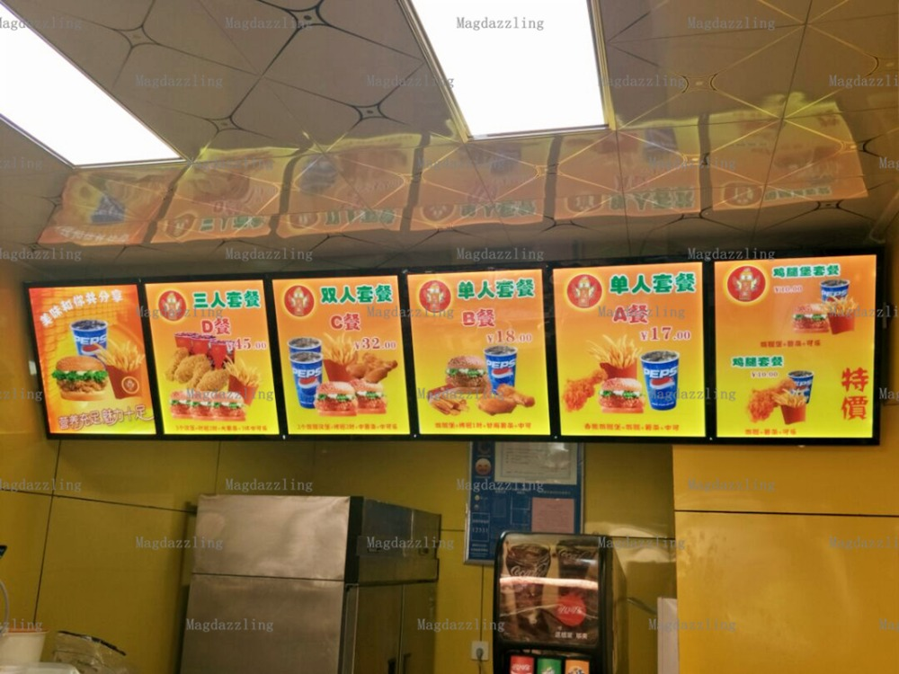 6units Slimline A2 Magnetic Aluminum Frame Led Illuminated Menu Lightboxes,restaurant Led Menu Signages Meticulous Dyeing Processes Back To Search Resultslights & Lighting Advertising Lights