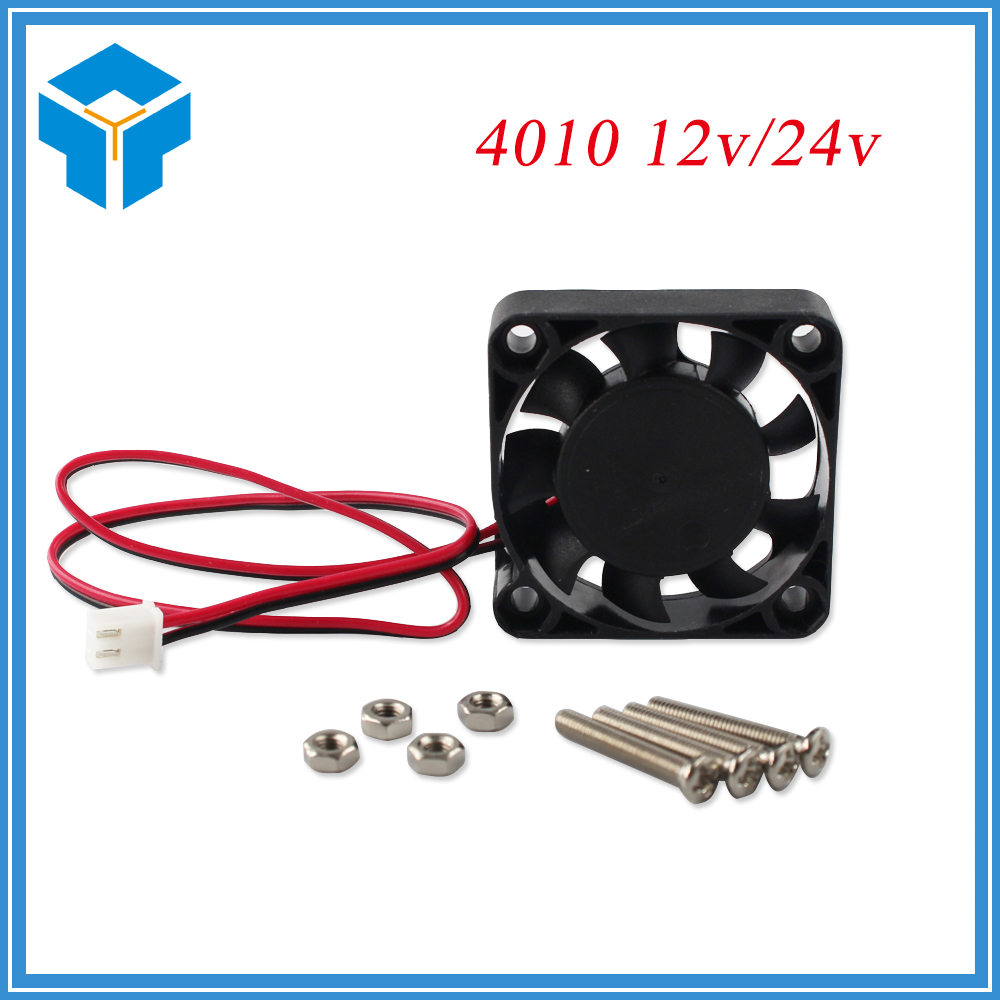 DC 12V Computer CPU Cooler Mini Cooling Fan 40MM 40x40x10mm Small Exhaust Fan for 3D Printer 4010 2 pin 40x40x10 gdstime 2 pcs 4010 12v 40x40x10mm brushless dc fan 40mm pc computer case cooling fan 2 0 2 pin cooler 4cm 9 blades
