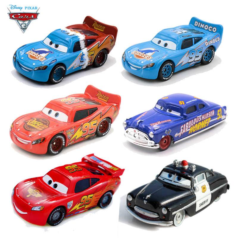 Disney Pixar Cars 2 3 95 Lightning Mcqueen Car Mater Jackson Storm Ramirez 1 55 Diecast Metal Alloy Model Toys
