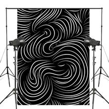 Black White Backgound Photography Line Backdrops Abstract Art Photo Studio Misty Background Props 5x7ft