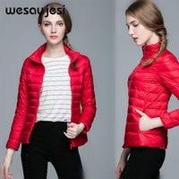 White Duck Down Jacket Women Plus Size Long Sleeve Double Warm Coat Lightweight Parka winter woman coats 2018 clothes fashion