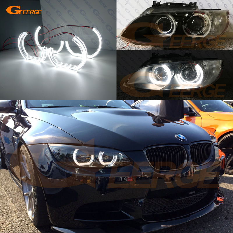 For BMW 3 Series E92 E93 M3 Coupe cabriolet 2007-2013 Excellent crystal DTM M4 Style Ultra bright led Angel Eyes kit bmw m3 e30 coupe