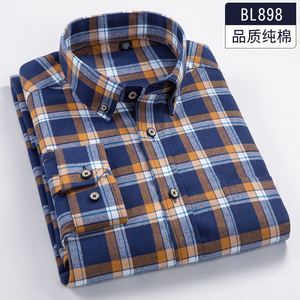 Image 3 - Plus size 5XL 6XL 7XL 8XL 100% Cotton Plaid Fannel Thick Long Sleeve Men Shirt Fat Guy Fashion Autumn/Winter Clothes 120kg 130kg