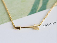 New Love sign Simple Sideways Cupid Necklace Small weapon Arrow love at first sight Pendant Necklace for Women lucky jewelry first sight