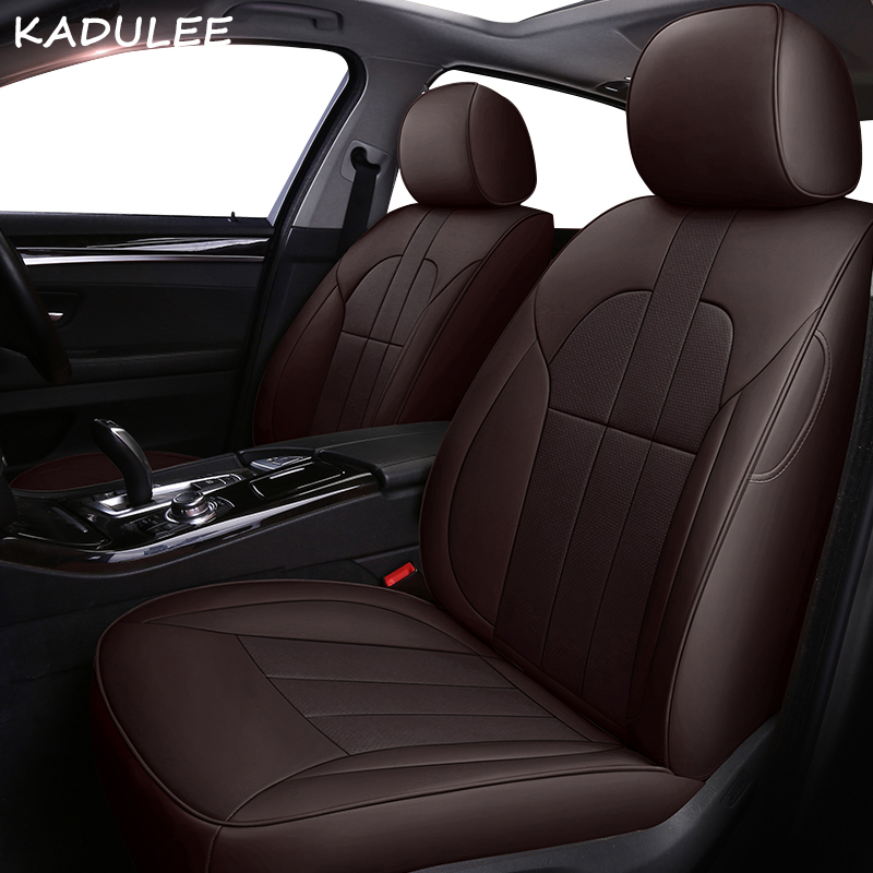 KADULEE leather car seat cover for Dodge Caliber Avenger Journey Challenger Automobiles Seat Covers car-styling