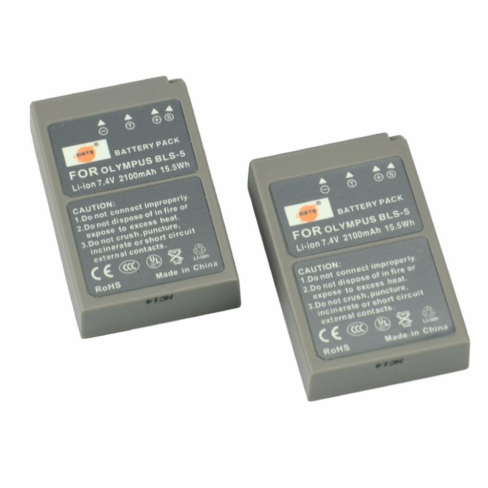 DSTE 2 pz PS-BLS5 BLS-5 Batteria Ricaricabile per Olympus E-420 E-450 E-600 E-620 E-P1 E-PL1 E-PLE15 E-PM1 E-PM2 E-M10 Macchina Fotografica