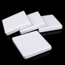 Electric Wall Switch Socket Blank Cover Panel Whiteboard ABS Outlet Plate Bezel Tool 86x86mm