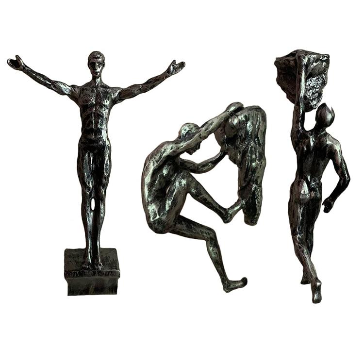 Retro Rock Climbing Figures Resin Sculpture Craft Wall Decorations Pendant Wall Statue Living Room Wall Decorative Sportsman