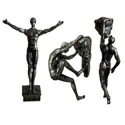 Retro Klettern Figuren Harz Skulptur Handwerk Wand Dekorationen Anhänger Wand Statue Wohnzimmer Wand Dekorative Sportler
