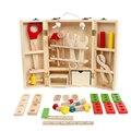 Niños Juguetes Desmontaje Y Montaje de Juguete Conjunto de Herramientas De Carpintero De Madera Para Niños Rompecabezas 3D Caja