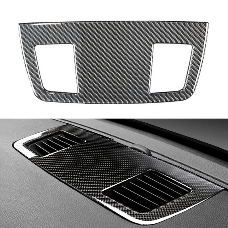 <font><b>Carbon</b></font> <font><b>Fiber</b></font> Dashboard Air Outlet Vent Cover Trim For <font><b>BMW</b></font> <font><b>E90</b></font> E92 3 Series 05-12 Prevent The Air Vent image