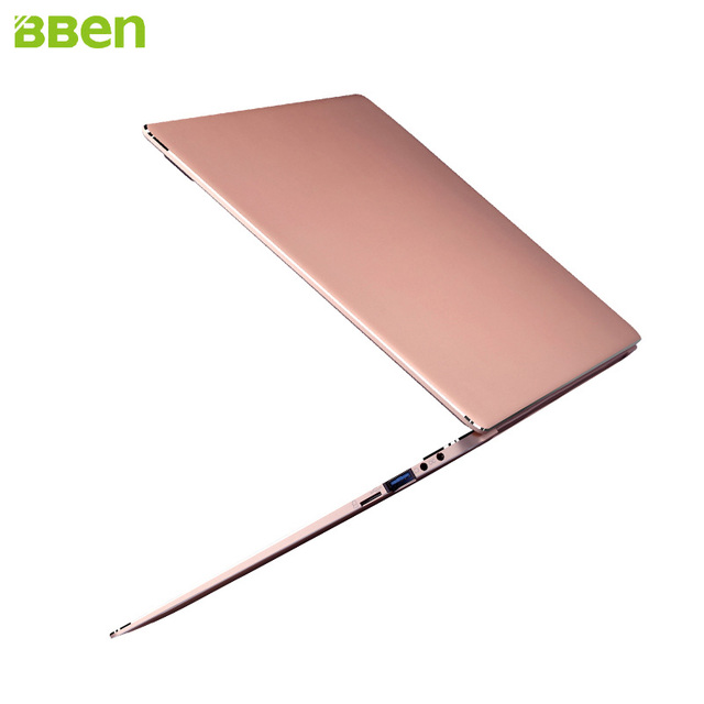 Hot Bben N14W Intel Apollo N3450 Windows 10 Narrow Frame 4G RAM+64G Rom+M.2 SSD Optional Laptop Ultrabook PC Computer Gold Pink