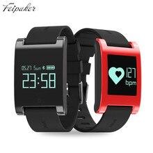 Feipuker DM68 водонепроницаемый смарт браслет фитнес-трекер Поддержка Кровяного Давления heart rate monitor Звонки Сообщения часы для фононов