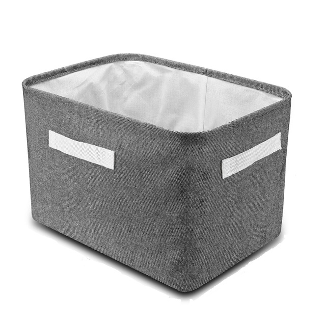 Delicieux Hangerlink Collapsible Storage Bin Basket Foldable Canvas Fabric Tweed  Storage Cube Bin Set With Handles For