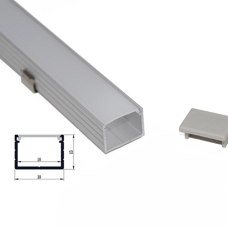 10PCS * 1M U formalı alüminium LED profil alüminium kanal, 16mm - İşıqlandırma aksesuarları - Fotoqrafiya 6
