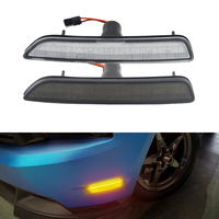 Smoke Clear Lens Front Amber Side Marker Position Turn Signal Led Lamps For Ford Mustang 2010 2011 2012 2013 2014 Front Bumper