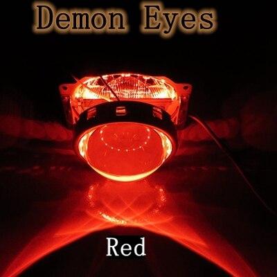 2.5 3.0 inch Bixenon projector lens LED demon  devil eyes red color mp620 mp622 mp625 projector color wheel mp620 mp622 mp625