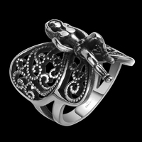HERMOSA Schmuck Neue Person form zubehör edelstahl Ring Größe 8,9, 10,11 GMYR150