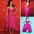 Inspirado Por Rihanna Blush Rosa Vestidos V Neck Backless Frente Curta e Longa de Volta Vestido de Rihanna