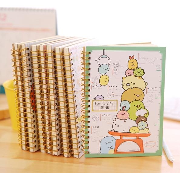 1PC Funny Kawaii Cartoon Rilakkuma Sumikko Gurashi Hard Cover Colored Page Coil Book Portable Pocket Notebook Cute Diary Notepad emma page hard evidence