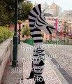 Best Quality lovely zebra mascot fursuit pa horse Mascot Costume Carnival fancy Dress Adult Size Free Shipping pw